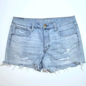 AEO Festival HR Mom Cutoff Jean Shorts Button Fly